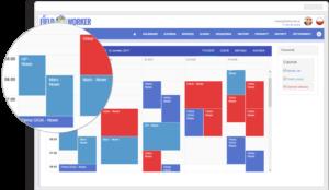 kalendarz, aplikacja Fieldworker